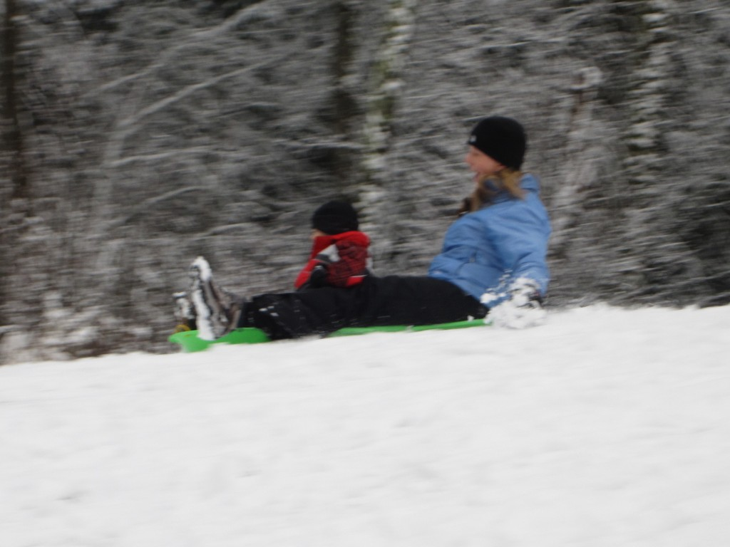 Me and Mommy Sledding